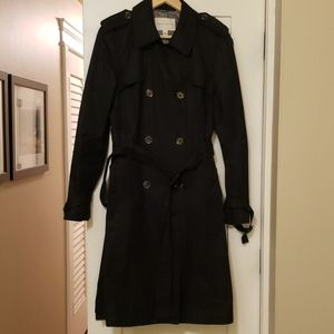 Banana Republic Black Trench Coat